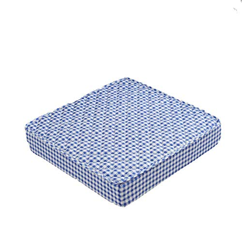 DIESZJ Ping BU Cojín para Silla Cojín para Silla de Oficina Cojín Grueso para Asiento Cojín para Respaldo de Coche Cojín para Silla de jardín Interior y Exterior Cojín Antideslizante (Azul 45x45x5cm)