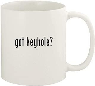 got keyhole? - 11oz Ceramic White Coffee Mug Cup, White