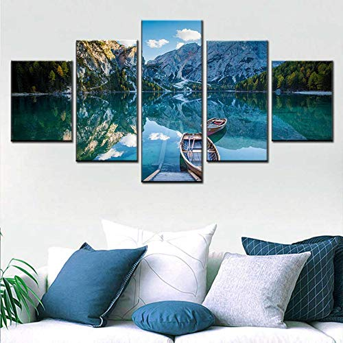 Wall Art HD Print Poster Canvas Picture 5 Snowboard Giles Natural Landscape Painting Living Room Home Decoration