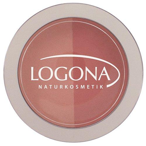 LOGONA Naturkosmetik Blush Duo No. 02 Peach&Apricot, Rouge, Natural Make-up, zaubert Kontur und Frische, mit Anti-Aging-Wirkung, Bio-Extrakte, 10 g