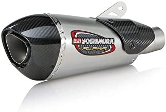 Yoshimura 18 Suzuki GSX-S750 Alpha T Slip-On Exhaust (Street/Stainless Steel/Stainless Steel/Carbon Fiber/Works Finish)
