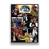 JINBINB Arte de la Pared de la Lona para Todos los Chicos Que me amaban Arte de la película Impresión del Cartel de Seda Decoración de la Pared del hogar 60x90cm