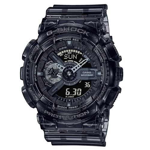 Casio Mens Analog Digital Quartz Uhr mit Kunststoff Armband GA-110SKE-8AER