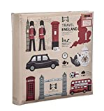 Arpan London Icons Design Reisetasche Memoalbum 6x4 für 200 Fotos, 23 x 23 cm