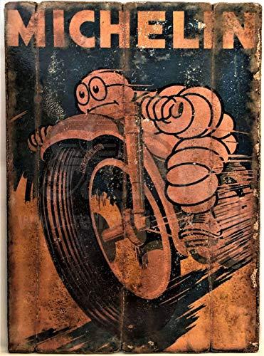 RetroReclamos Cuadro de Madera Vintage Michelin