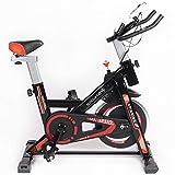 Sport24 Spinning Bike per Palestra a Casa, Cyclette con Sensore per Frequenza Cardiaca e Monitor LCD, Bici con Volano da 5kg per Allenamento Cardio e di Resistenza, Edizione 2020