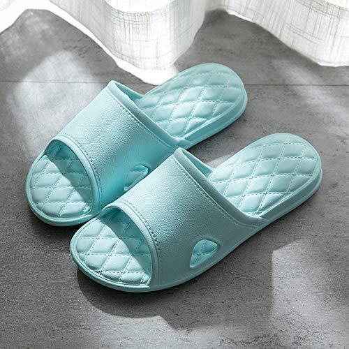 Cozy Dusch- & Badeschuhe,Männer und Frauen verdickte Bad Hausschuhe, rutschfeste super weiche Hausschuhe-hellblau_37-38,Pool Slide Dusch-& Badeschuhe