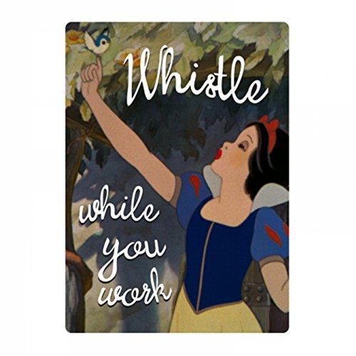 Genuino Disney White Snow Whistle Mientras trabajas Refrigerador Imán Regalo Nevera Retro