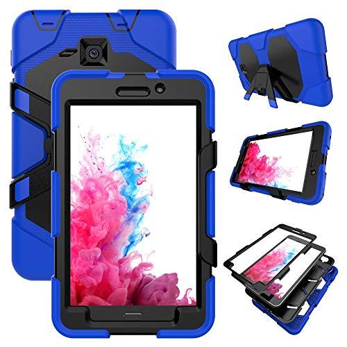QiuKui Tab Funda para Samsung Galaxy Tab A A6 7.0 Pulgadas, Funda de Stand de Silicon Kickstand para Samsung Galaxy Tab A A6 7.0 Inch 2016 T280 T285 SM-T280 SM-T285 (Color : BL)