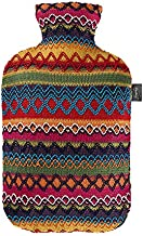 Fashy Hot Water Bottle with Cover Peru-Design Pink/ Brown 2