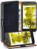 MoEx Étui Folio à Support vidéo Compatible avec Moto Z Play | Fente pour Argent/Cartes, Noir