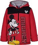 Disney Mickey Mouse Toddler Boys Fleece Hoodie Pullover Sweatshirt Zipper Red 3T