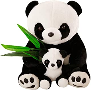 ALISHA TOYS™ Cute & Beautiful Soft Panda with Baby Teddy Bear Soft Toy for Girls / Kids / Gifting / Valentine / Anniversary / Birthday (White & Black) - 60 cm