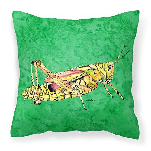 Caroline's Treasures Grasshopper on Verde Tessuto Decorativo Cuscino
