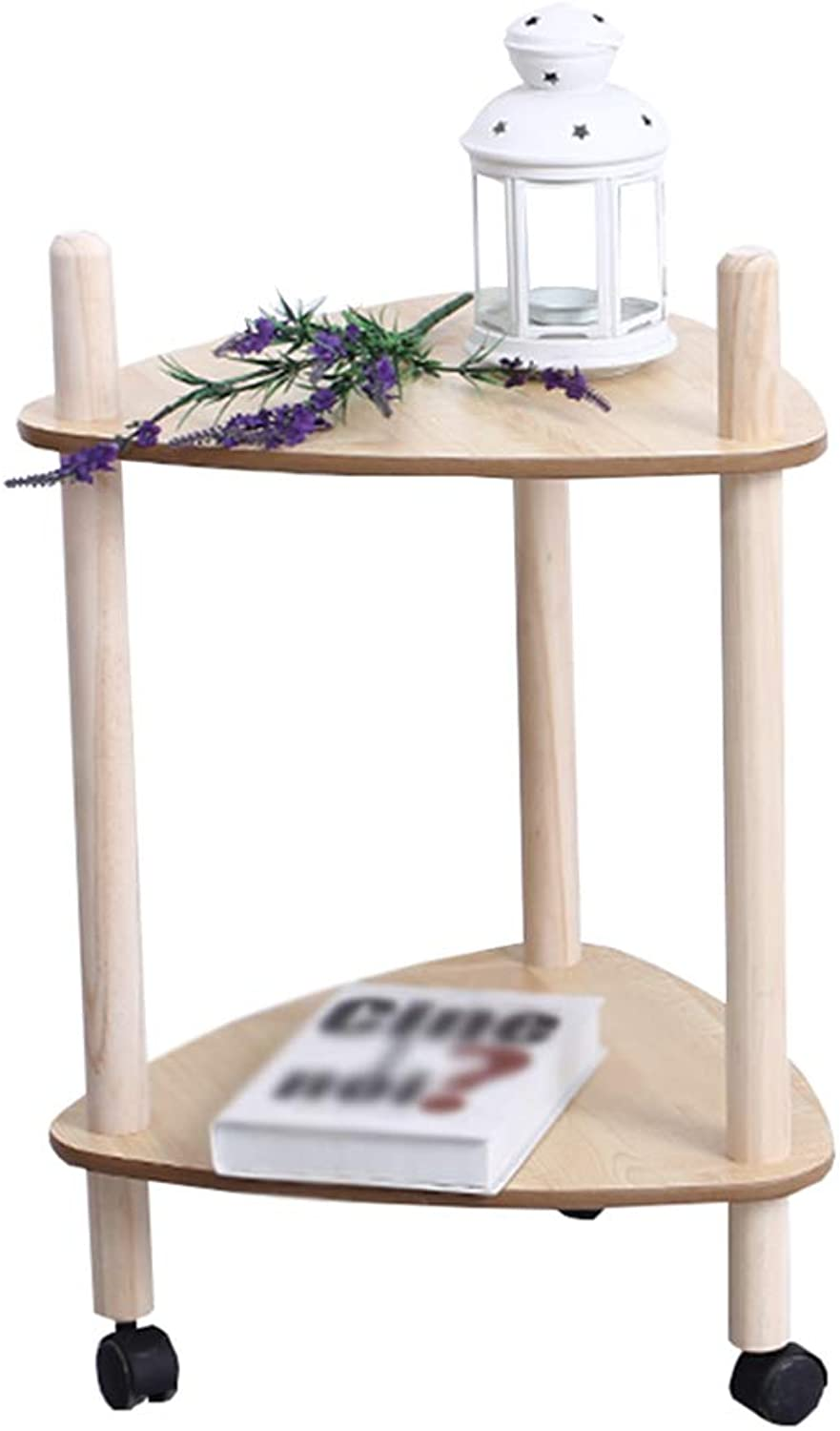 Chunlan Folding table Nordic It Can Move Tea Table Small Cart Dining Car Home Living Room Multifunction Shelves (Size   44.5  68cm)