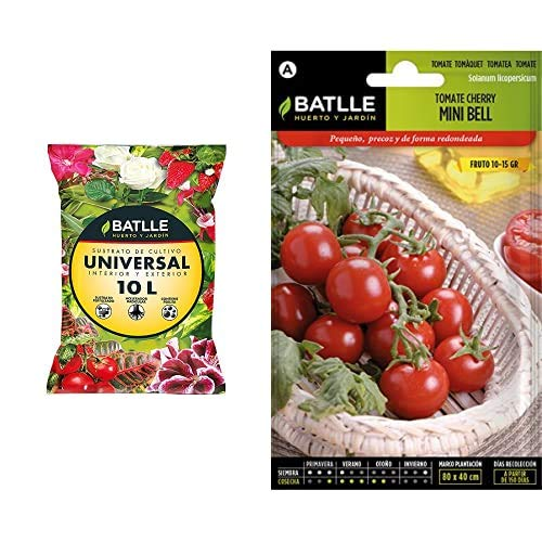 Semillas Batlle Sustratos Universal 10l + Hortícolas Tomate Cocktail Tipo Cherry