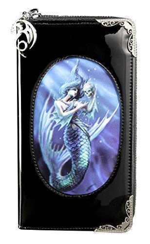 Fantasy Portmonee mit Meerjungfrau 3D Motiv | Sailors Ruin von Anne Stokes | Gothic Geldbörse Geldbeutel Portemonnaie Lack