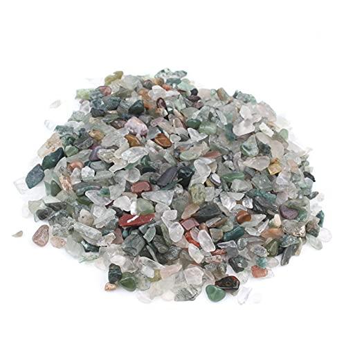 ZLDDE Cuentas de Piedra 50 g/Bolsa Cuarzo Mezclado Cristal de Cristal Rock Grava Tumble Piedras Minerales para el Tanque de Peces Aquarium Jardín Decoración Unisexo (Color : Indian Agate)