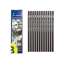 スケッチ鉛筆、プロ用鉛筆、初心者向けアートチャコール専用鉛筆 (4B)