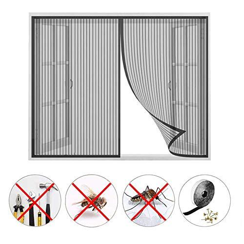 Fliegengitter Fenster,Magnetische Verschlüsselung Stumm Anti-Moskito-Bildschirm Fenster für Balkon Schlafzimmer Küche Kinderzimmer Moskitonetz Fliegenvorhang