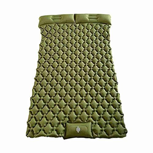 ZIFON Almohadilla de dormir doble para acampar nflatable Camping Pad Prensa de pie ligera para senderismo viajes camping durable impermeable colchón de aire compacto senderismo pad