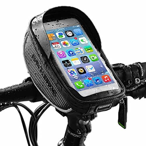 Bolsa Bicicleta, Montaña/carretera al aire libre La bicicleta de ciclo impermeable del marco frontal sombreado bolsa, portátil de pantalla táctil del teléfono móvil del manillar de la bicicleta bolsa