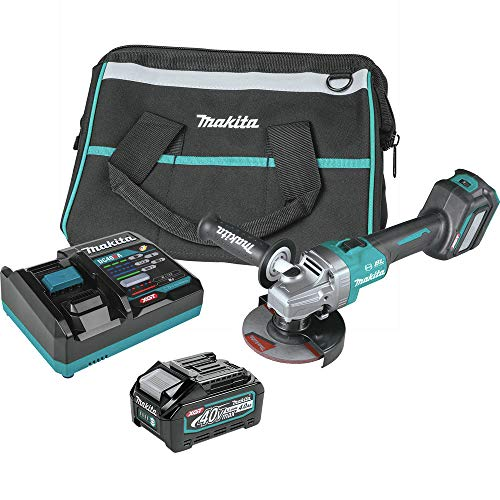 Makita GAG04M1 40V Max XGT Brushless Lithium-Ion 4-1/2 in./5 in. Cordless Angle Grinder Kit with Electric Brake and AWS (4 Ah)