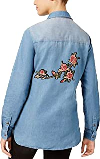 Polly And Esther Juniors' Cotton Embroidered Denim Shirt