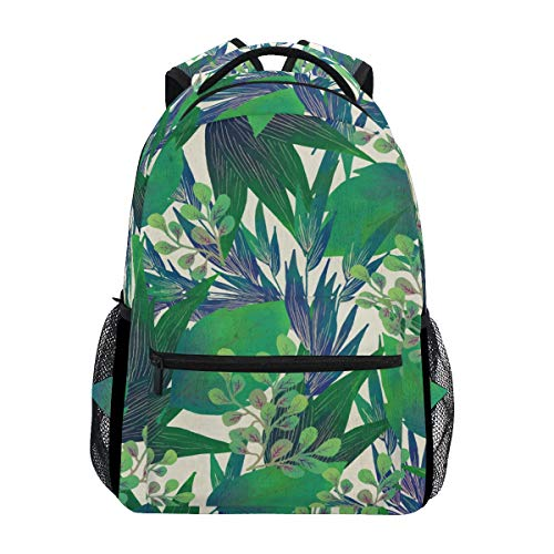 Mr.Lucien Tropical Green Plant Hiking Daypacks Creative Design Summer Style Modern Minimalist Style Multipurpose Daypacks Outdoor 3-Day Travel Backpack Sports Bag Cases Unisex 2020012