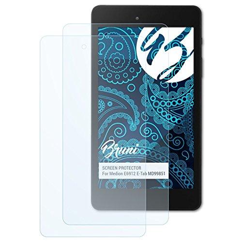 Bruni Schutzfolie kompatibel mit Medion E6912 E-Tab MD99851 Folie, glasklare Bildschirmschutzfolie (2X)