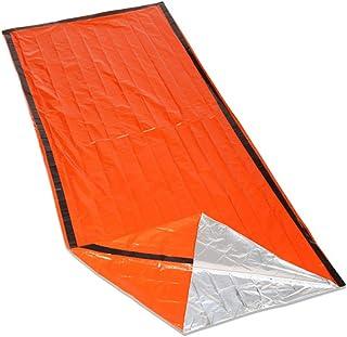 GEMYON Outdoor Emergency Sleeping Bag, Survival Blanket Lightweight Adiabatic Survival Gear First Aid Sleeping Bag for Camping Travel