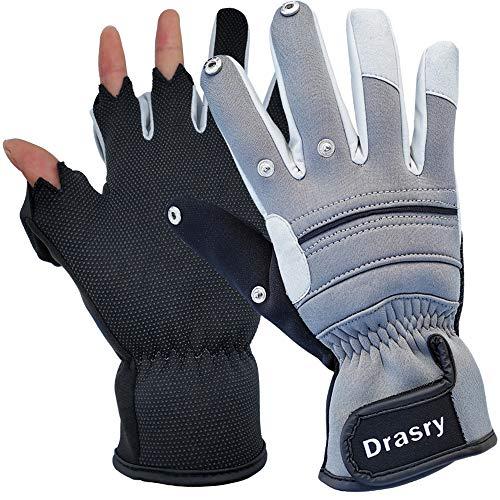 Drasry Neoprene Touchscreen Ice Fishing Gloves
