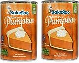 (Pack of 2) Bakeroo Tinned Pumpkin Puree (Pumpkin Pie Filling - Kürbiskuchen), 100% Natural - 425g