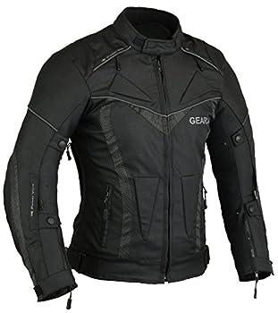 GearX BorneAir Veste de Protection Moto étanche avec des évents Hommes,Noir,L