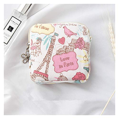 LUCHAO Mini sanitäre Servietten Tasche Leinwand Münze Geldbörse Kreditkarteninhaber Sanitär Pad Bag Kosmetik Organizer Aufbewahrungstaschen Frauen Geldbörsen (Farbe : 03)