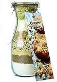 Backmischung im Glas für Coconut Ginger Cookies – Raffinierte Geschenk-Idee für Backfreunde –Gourmet Backzutaten im Weckglas für Kokosnuss-Ingwer-Kekse – von Feuer & Glas