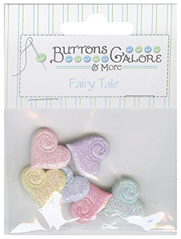 Buttons Galore Fairy Tale Shimmering Hearts Buttons