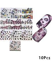 10Sheets Pakiet Woda transferu Nail Art naklejki DIY Nail Art Kalkomanie Rózne Wzór Cartoon Nail Tips dekoracyjne akcesoria Nail Art dla kobiet i dzieci (A) narzedzia do manicure