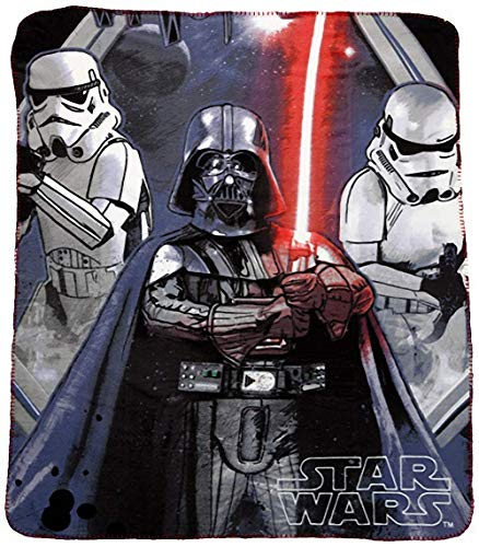 Star Wars Manta Polar Darth Vader Y Stormtroopers 140 X 120 CM HO4581.Red.TU