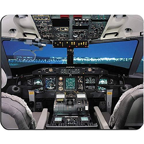 Vliegtuig Cockpit/Vliegtuig Cockpit Doek Cover Rechthoek muismat 9.84