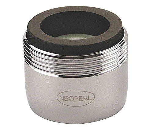 "Neoperl 32 3200 5 PCA Mikado Ultimate Low Flow Dual Thread Aerator, Regular, Spray Stream, 0.35 GPM, Brown/White Dome, 15/16""-27 X 55/64""-27 Threads, Chrome Finish"