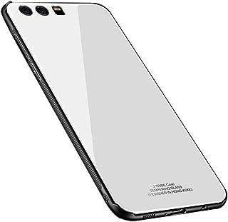 Kepuch Quartz Huawei P9 Plus Case - TPU + Tempered Glass Back Cover for Huawei P9 Plus - White