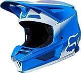 FOX V2 Vlar Motocross Helm Blau/Weiß XS