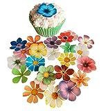 Vorgeschnittene schöne Blumen Mix I. Essbare Oblaten /
