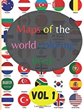 Maps of the world coloring book (vol1): color flags and learn about world countries! | all south and north america flags w...