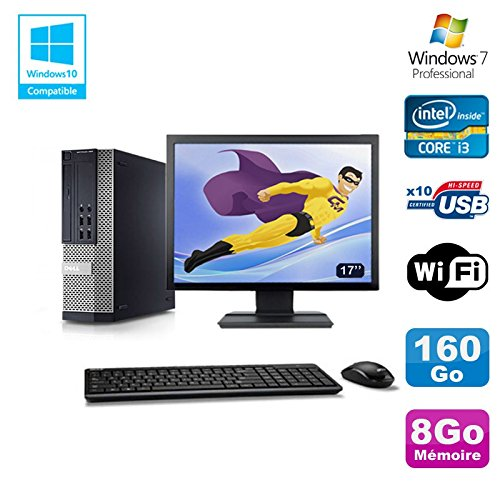 Pack PC DELL 790 SFF Intel Core i3-2120 3.3Ghz 8gb 160GB WIFI W7 Pro + Bildschirm 17