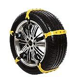Cadenas 10PCS neumático del coche de la nieve del invierno del neumático de nieve Cadenas de Neumáticos de barro antideslizante Cinturones de emergencia Correas de transmisión en las ruedas Cadenas De