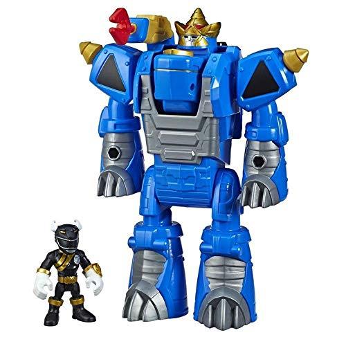 Playskool Power Rangers Sabans Preto e Rhino Zord 2 em 1 Hasbro