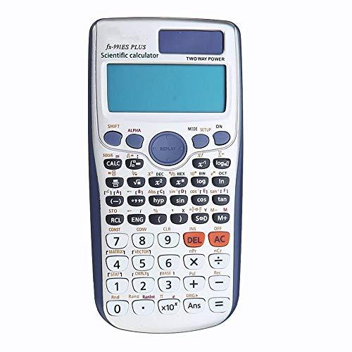 Zhengowen Calculadora Plus Calculadora científica Calculadora de Dos Fuentes de Student Calculadora de vías de Uso en oficinas y escuelas calculadoras básico (Color : White, Size : One Size)