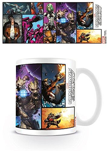 Guardianes de la Galaxy cómic Taza de cerámica, Multicolor